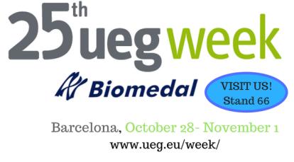 Biomedal, presente en la 25 edición de la UEG WEEK