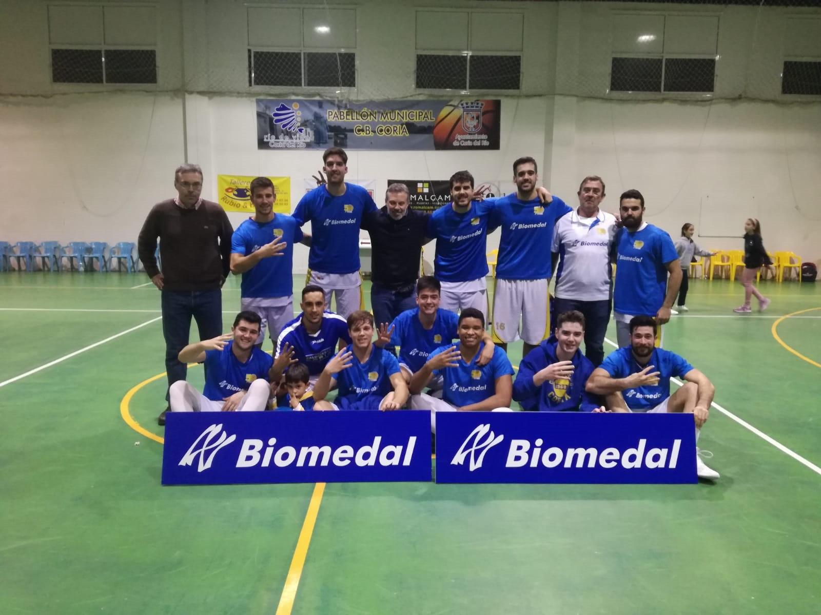 Biomedal patrocina al equipo de baloncesto conocido como CB Coria.
